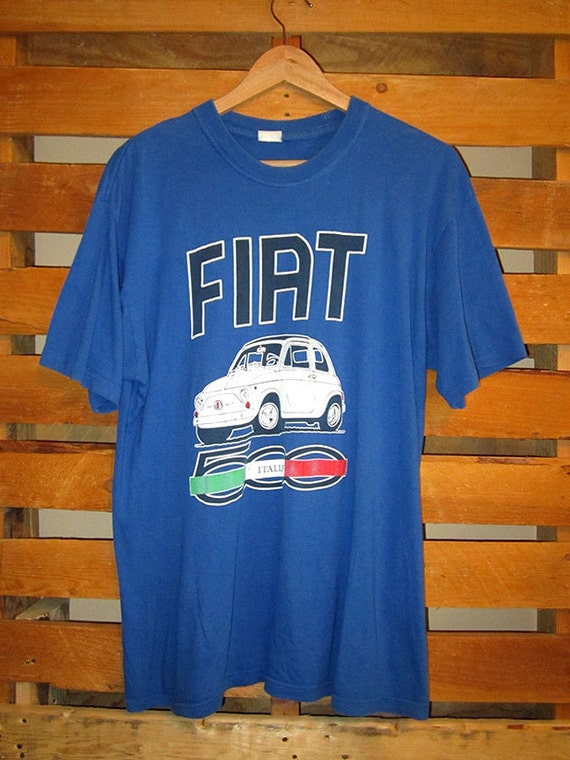Vintage Fiat T Shirt Size L By Scavengersblog On Etsy