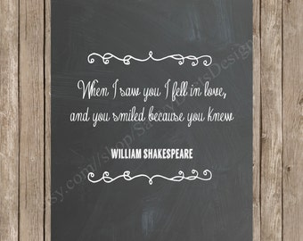 Chalkboard Wedding Quote Printable