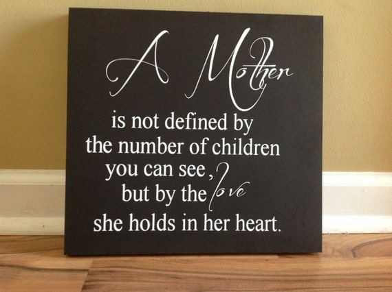 a mothers love is not defined by the number of children you