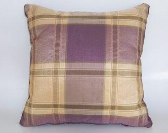 Purple Plaid Pillow