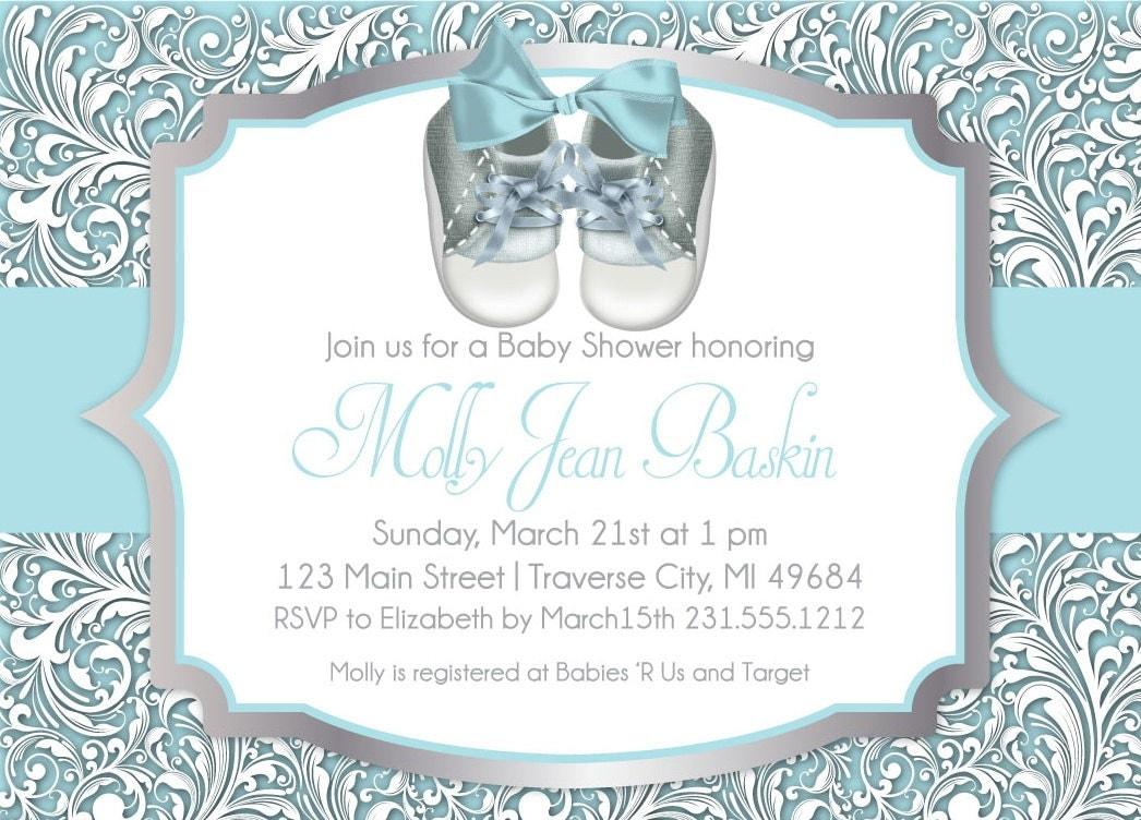 baby shower invitation unique boy baby shower shoes