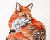 Original Acrylic Painting on Canvas / Fox - TeacupCo