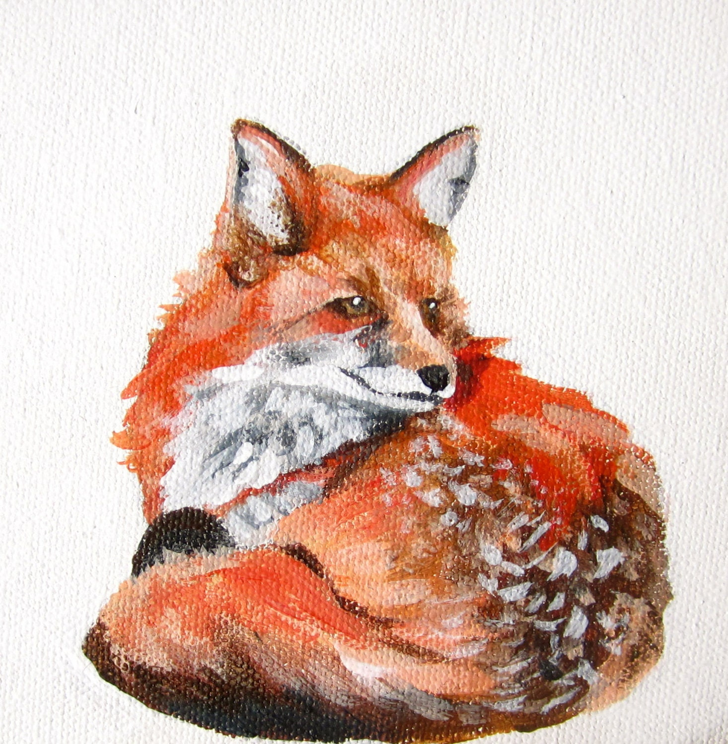 Acrylic Paintings Of Foxes