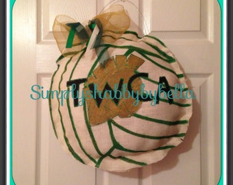 Burlap Door Hanger Volleyball