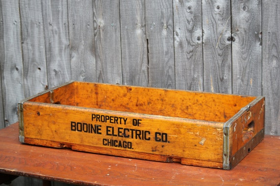 Vintage Industrial Bodine Electric Co Chicago Wood And Metal