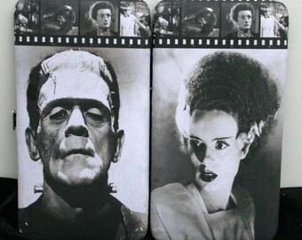 Frankenstein Wallet Bride of Frankenstein Horror Movie Wallet Classic Cinema Wallet Monster Wallet Frankenstein Clutch Movie Clutch