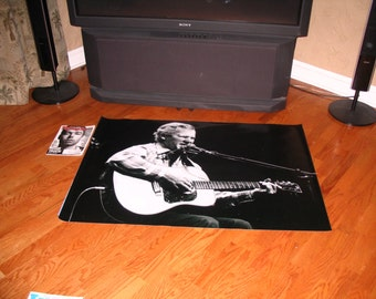 Huge 48x32aprx. DOC WATSON vinyl BANNER Poster bluegrass country nashville guitar bill monroe