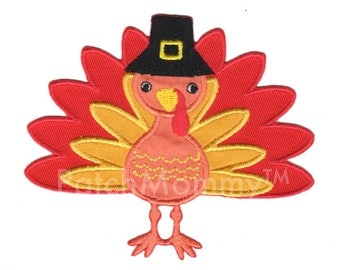 Turkey Iron-On Applique Patch Kids / Thanksgiving