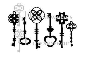 Keys Stencil or Masks, Original, Mono printing, Mixed Media, Scrapbooking, Re-usable, Template, Spray Inks,Gesso, Molding Paste, Paint media