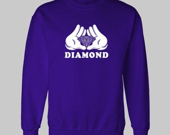 DIAMOND MICKEY HANDS hip hop drake sweatshirt sweat shirt