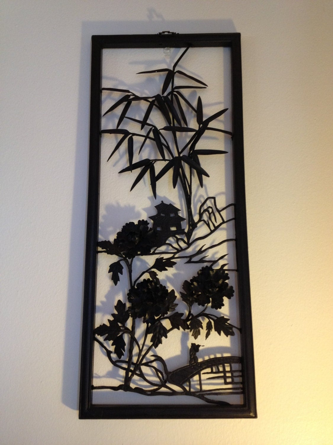 Mid Century Asian Metal Wall Art