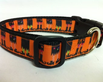 Halloween Witch Feet Dog Collar