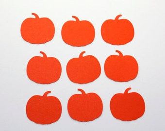 100 Orange Pumpkin Confetti, Pumpkin First Birthday Decor, Pumpkin Party Confetti, Fall Confetti, Pumpkin Patch Party, Halloween Confetti