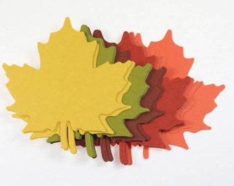 25 Leaf Die Cuts, Paper Maple Leaves, Thanksgiving Decor, Fall In Love, DIY Leaf Tags, Place Cards Fall Leaves, Autumn Leaf Place Card
