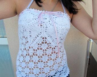Women Crochet Top ,Crochet Summer Top.Crochet Women blouse