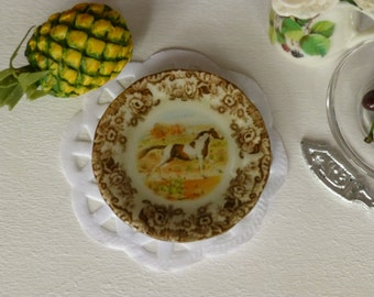 Pinto Horse Plate for Dollhouse