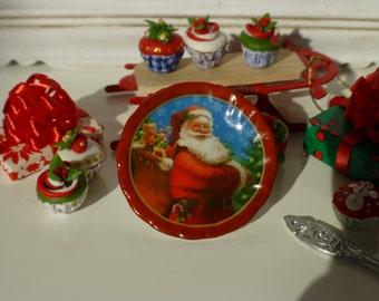 Christmas Santa Plate for Dollhouse
