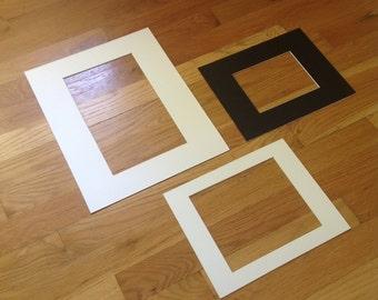 Custom Mats, Black or White, Custom photo mat, mats for artwork, mats for frames