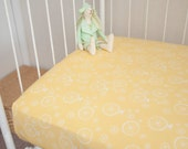 Organic 100% Cotton Fitted Crib Cot Toddler Bed Sheet Yellow Green
