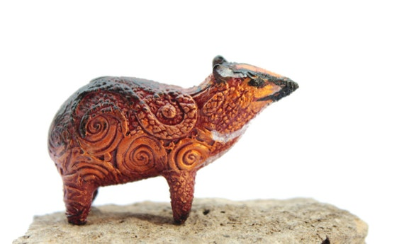 Animal Totem Mouse Deer Chevrotains ornament Figurine Fantasy Skulpture Guardian Spirit Amulet Shamanic Native Green Forest