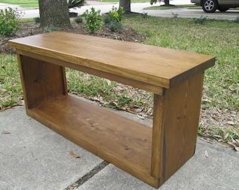 Entry Bench Modern Rustic