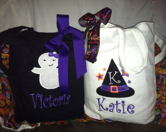 Personalized appliqué Trick or Treat bags