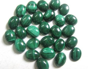 Lot Of 10 Piece AAA Quality Natural Malachite Cabochon 10x14 MM Oval Loose Gemstone