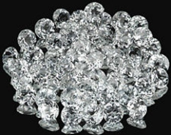 Lot of 50 Pieces AAA Qualily White Topaz Round cut 1.25x1.25 MM Loose Gemstone Calibrated