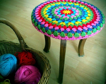 Crocheted Stool Cosy - Made to Order