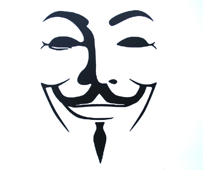 V For Vendetta Mask Stencil Guy Fawkes V for Vende...
