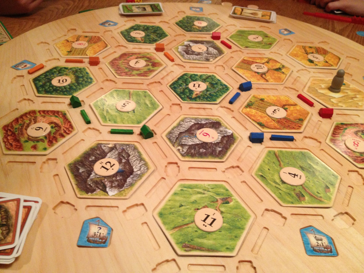 Wood Board Games ~ Settlers of catan game board wooden tile holder