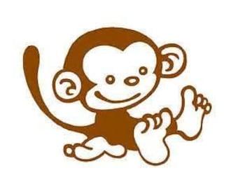 Little Cute Monkey Car Decal