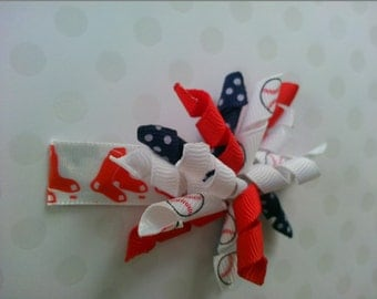 Boston Red Sox Korker Hairbow