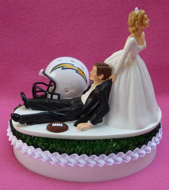 San Diego Chargers Cake: Wedding Cake Topper San Diego Chargers SD Football Themed