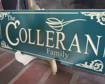 Wooden Family Sign Personalized Custom Made Carved Wedding Anniversary Marriage Last Name Engraved Plaque Housewarming Gift Poplar 3