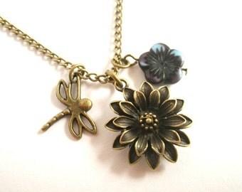 Petit Jardin - long necklace vintage style