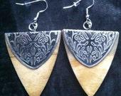 Tribal Triangle Earring