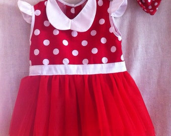 Red and White Character Inspired Tutu Dress/Costume~Infant/Toddler/CHILD