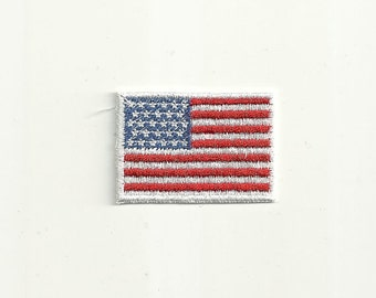 Tiny American Flag Patch Custom Made! F17