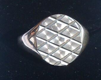 Vintage sterling silver Gents  ring