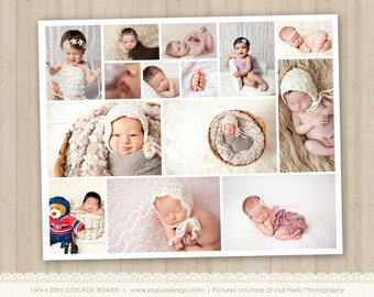 16x20 Collage or Storyboard Template for Photographers