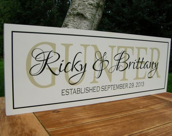 Personalized Gifts, Personalized Couple,  Personalized, Last Name Sign, Wooden Signs Personalized Family Name Signs, Family Established Sign