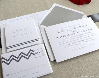 Chevron Wedding Invitation SAMPLE