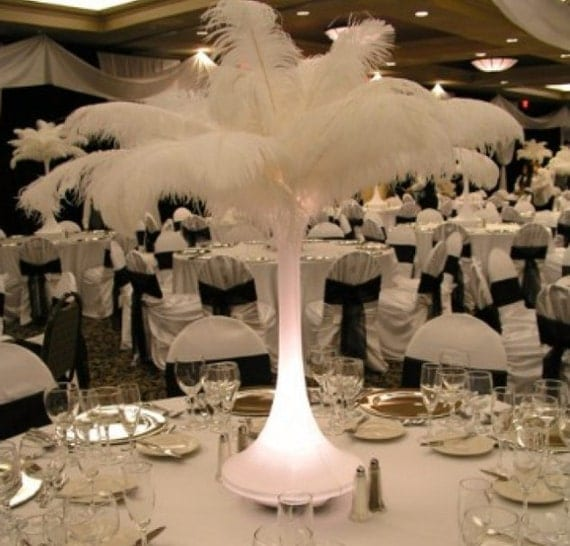 Tall ostrich feather wedding or party by thepetalhouse on etsy
