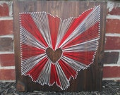 String Art State, Any State, Ohio State Buckeyes, Home is Where the Heart Is, Nail and String Art