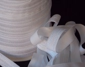 10 yards White Fold Over Elastic FOE 5/8 inch Fabric - Emi Jay Material - DIY Hair ties and headbands Soft Stretchy No Pull