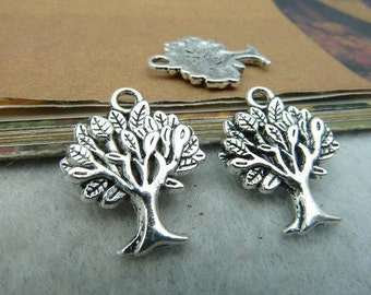 40pcs 16x22mm Antique bronze Antique Silver Tree Charms Pendants Jewelry Findings AC2570