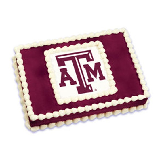 Texas A&M Edible Image Cake Topper by ABirthdayPlace on Etsy
