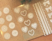 Lace sticker - Deco Sticker - vintage Sticker - Diary Sticker - 3 styles for choose