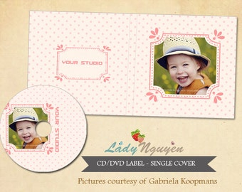 Instant Download CD/DVD Label and cover templates - CD022